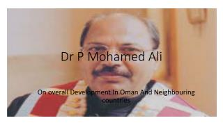 P Momahed Ali's life as a Philanthropist