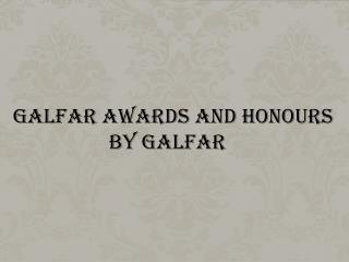 Awards received by Dr P Mohamed Ali