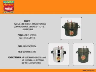 Aluminum Pressure cooker Exporters