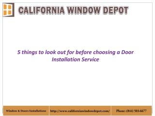 Door Installations Orange County