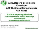 A developer s peek inside JDeveloper ADF Business Components  ADF Faces