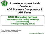 A developer s peek inside JDeveloper ADF Business Components  ADF Faces