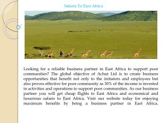 SafarisTo East Africa