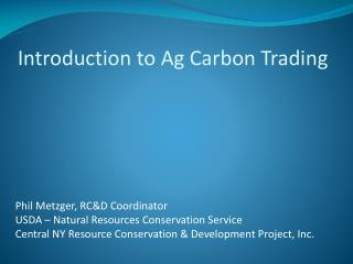 Introduction to Ag Carbon Trading