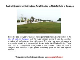 Fruitful Reasons behind Sudden Amplification in Plots for Sale in Gurgaon