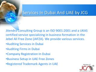 Services In Dubai And UAE by JCG