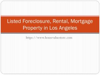 List your Foreclosure & Mortgage Property