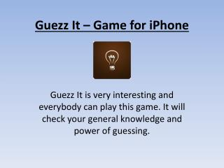 Guezz it - Word Guessing Game for iPhone