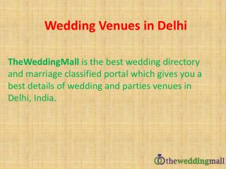 Wedding venues in Delhi, India