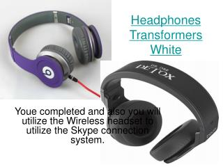 Headphones White Red