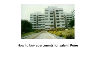 How to buy apartments for sale in Pune