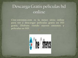 Descarga Gratis películas hd online