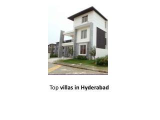 Top villas in Hyderabad