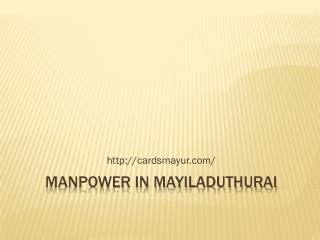 manpower in Mayiladuthurai