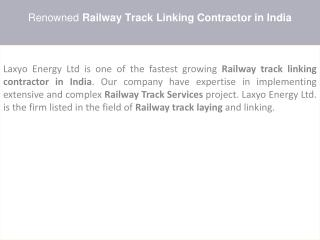 Railway Approved Contractor in India