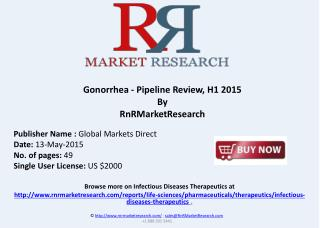 Gonorrhea Infectious Pipeline Review, H1 2015