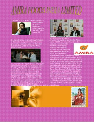 Amira Foods - Amira Foundation