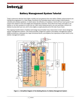 Battery Management System Tutorial