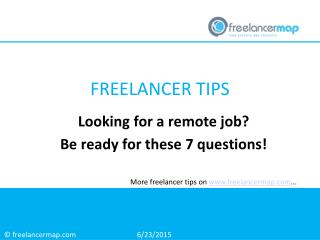 Looking for a remote job? Be ready for these 7 questions!