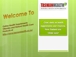 Herbal Health Products -TasmanHealth.co.nz