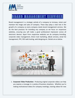 Brand Management Services | Allurebusiness.com