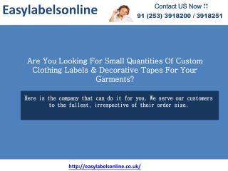 Garment Label Manufacturer- Easylabelonline