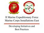 II Marine Expeditionary Force  Marine Corps Installations East