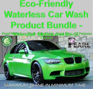Eco-Friendly Waterless Car Wash Product Bundle - Pearl Water