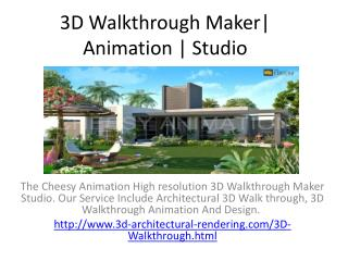 3D Walkthrough Maker| Animation | Studio