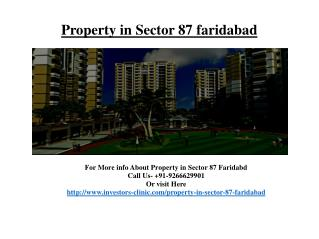 Property in Sector 87 faridabad @ 92666299901
