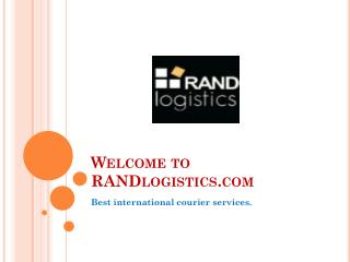 RANDlogistics-World's largest courier company