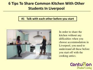 6 tips to share common kitchen with other students in Liverp