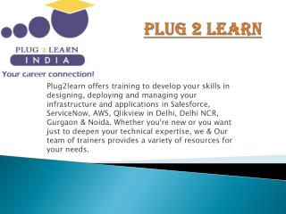 Plug2learn offers training to develop your skills