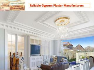 Reliable Gypsum Plaster Manufacturers in Rajasthan