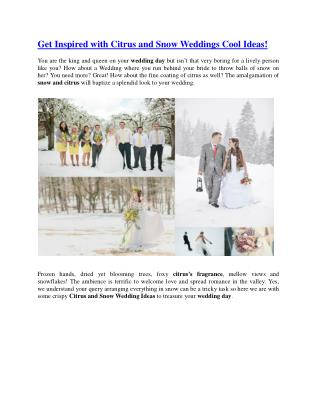 Get Inspired with Citrus and Snow Weddings Cool Ideas!