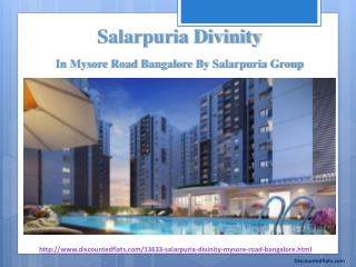 Salarpuria Divinity | Pre Launch Residential Flats