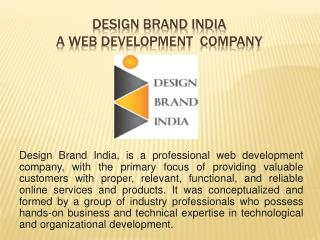 Design Brand India - A Online Promotion Company