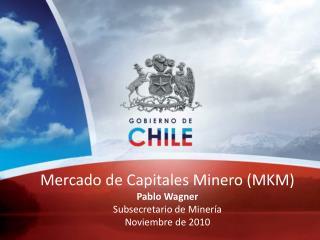 Mercado de Capitales Minero MKM Pablo Wagner Subsecretario de Miner a Noviembre de 2010