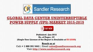 Global Data Center Uninterruptible Power Supply (UPS) Market