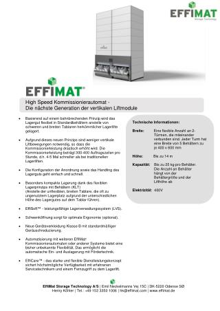 EffiMat Datenblatt