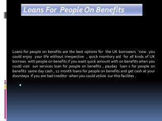 Long Term Loans For People On Benefits – Lenders Loans