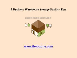 5 Dubai Business Warehouse Storage Facility Tips