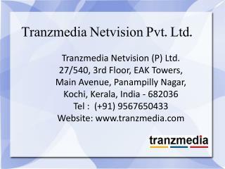 Web Designing Company Cochin - Tranzmedia Netvision