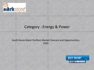South Korea Water Purifiers Market Forecast