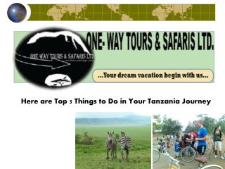 Here are Top 5 Things to Do in Your Tanzania Journey
