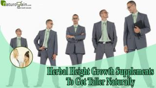 Herbal Height Growth Supplements To Get Taller Naturally
