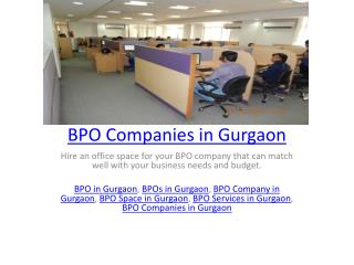 BPO Companies in Gurgaon