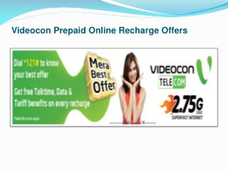 Videocon Prepaid Online Recharge Offers