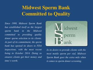 Midwest Sperm Bank - Committed to Quality