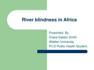 River blindness in Africa